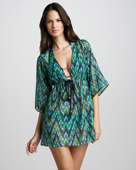 Ava Printed Coverup Tunic