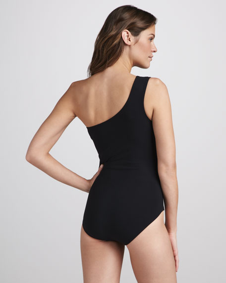 Starburst One-Shoulder One-Piece Swimsuit