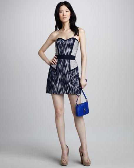 Dianna Strapless Tweed Dress