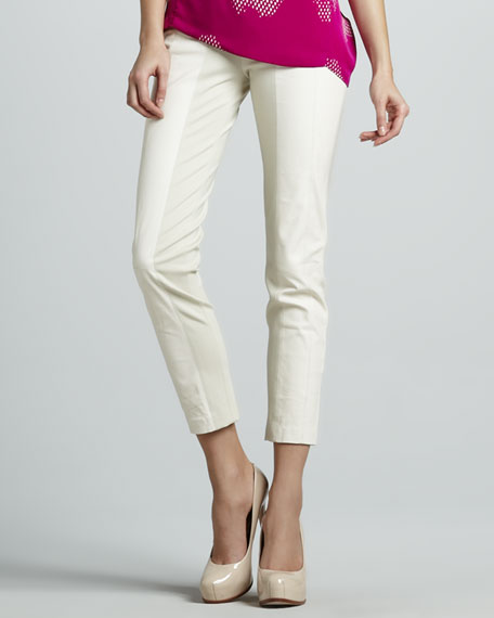 Ponte/Leather Combo Pants