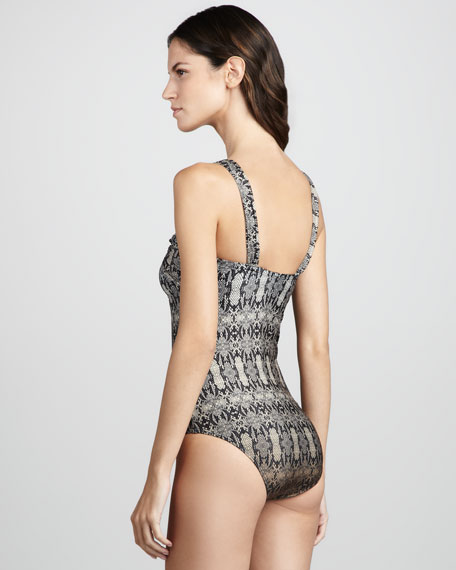 The Baths Printed Maillot Swimsuit