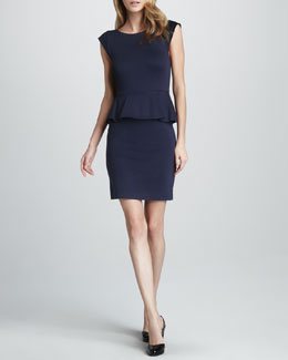 Alice + Olivia Victoria Ponte Peplum Dress