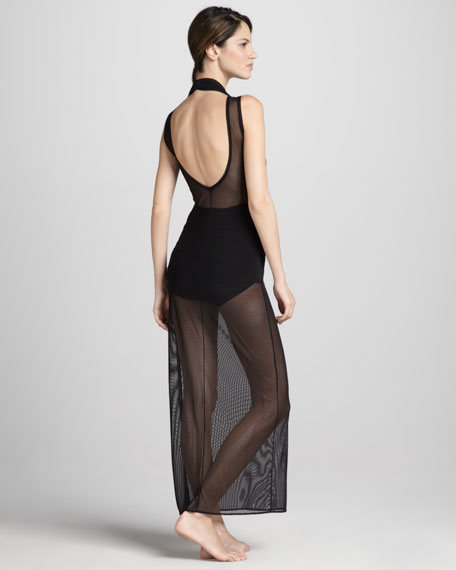 Sheer Open-Back Coverup