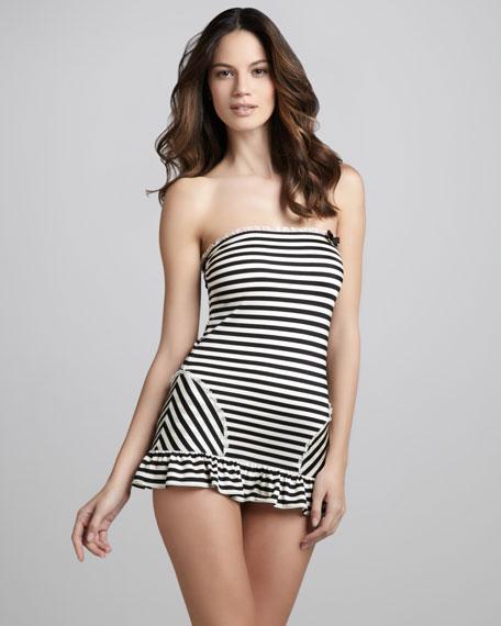 Boudoir Striped Swimdress