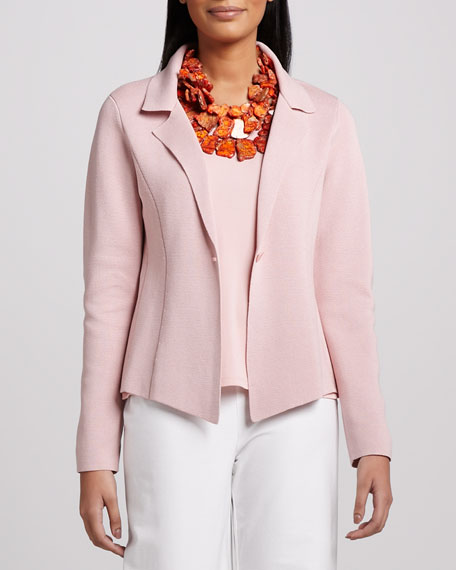 Interlock One-Button Jacket, Petite