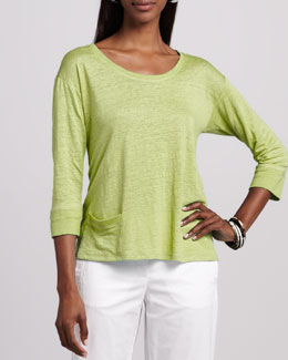 Eileen Fisher Linen Jersey Top