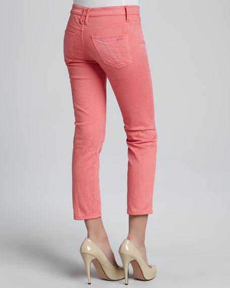 Cropped Stretch-Denim Pants