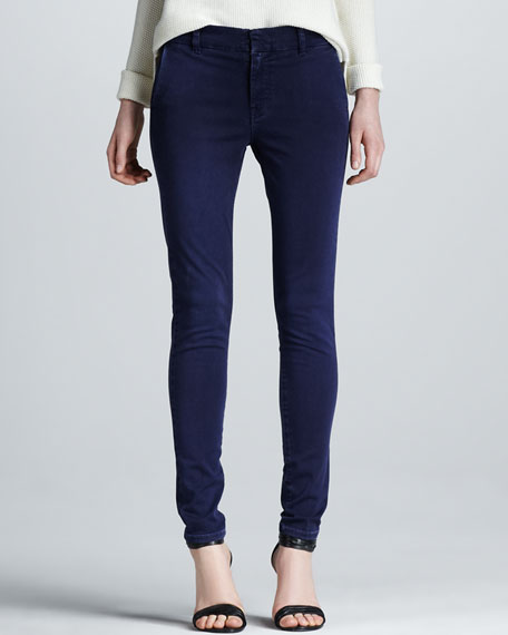 Slim Chino Pants, Navy