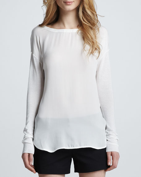 Silk/Knit Loose Top