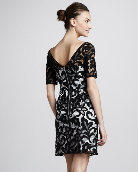 Half-Sleeve Lace Dress