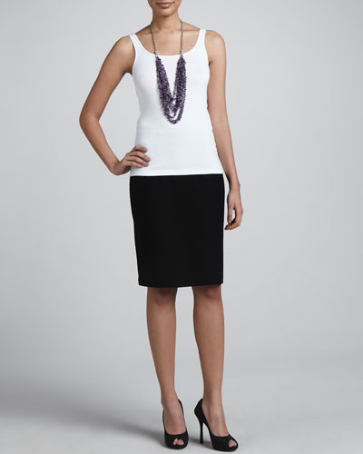 Crepe Pencil Skirt, Women