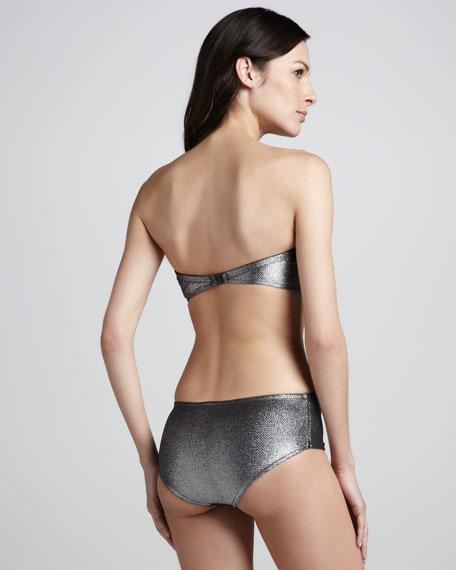 Milady Textured Bandeau Bikini