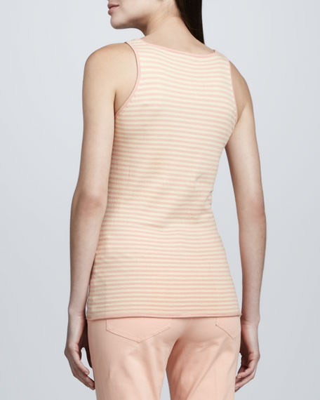Rose Gold Striped Layering Tank