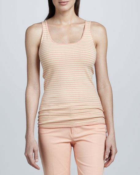Minnie Rose Rose Gold Striped Layering Tank