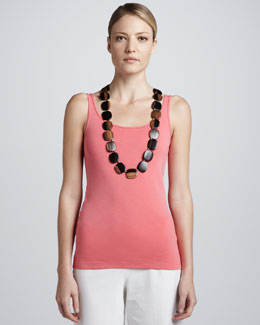 Eileen Fisher Organic Cotton Long Tank