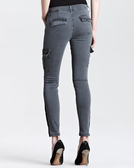 Grayson Vintage Black Skinny Cargo Pants