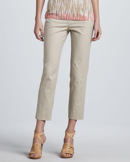 Cropped Bleecker Pants, Khaki