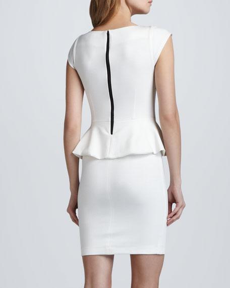 Victoria Ponte Peplum Dress, Cream
