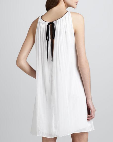 Genae Leather-Trim Dress