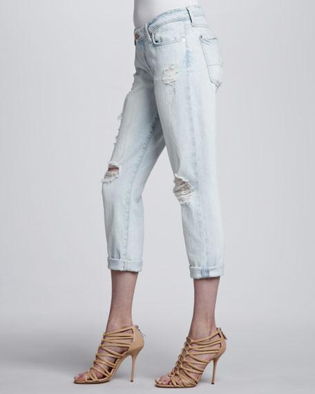 Josefina Distressed Light Cuffed Jeans