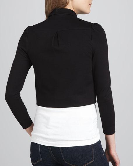 Alice + Olivia Addison Bow-Collar Jacket