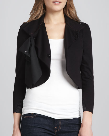 Addison Bow-Collar Jacket