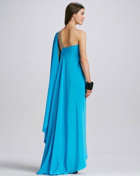 Zoe One-Shoulder Goddess Dress