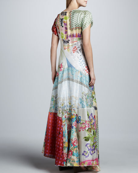 Prudence Silk Printed Maxi Dress