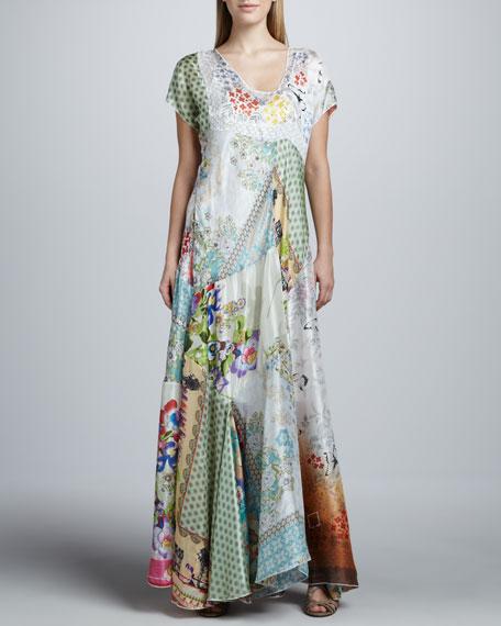 Prudence Silk Printed Maxi Dress