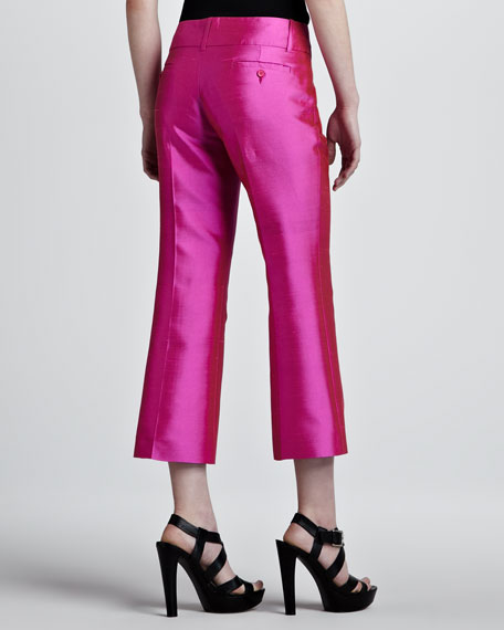Cropped Shantung Pants