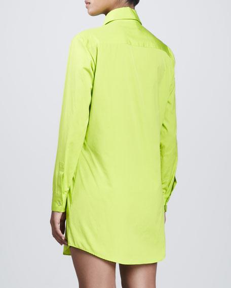 Poplin Shirtdress, Acid
