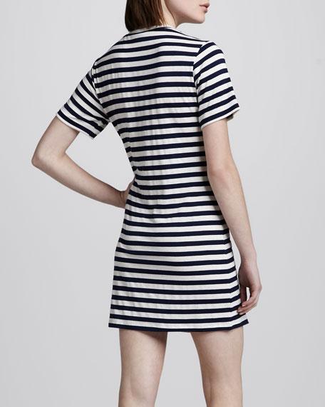 Brigette Striped Jersey Dress