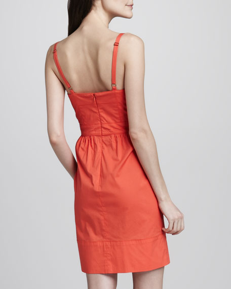 Sweetheart-Neck Spaghetti-Strap Dress