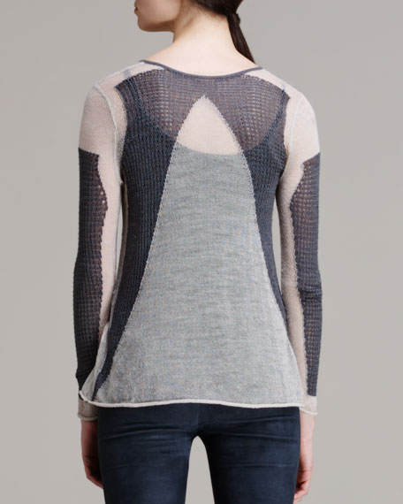 Modern Lace Knit Pullover