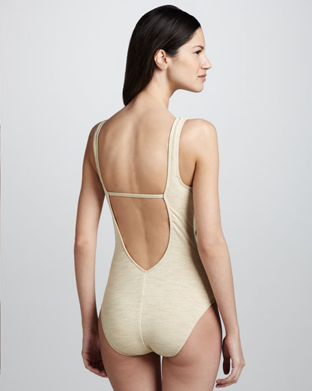 Shimmery Draped One-Piece