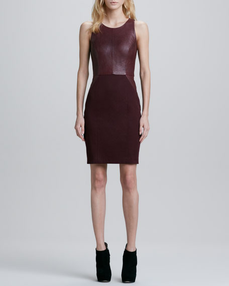 Carolina Leather/Ponte Combo Dress