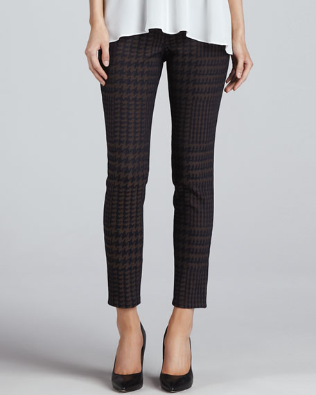 Houndstooth Twill Pants