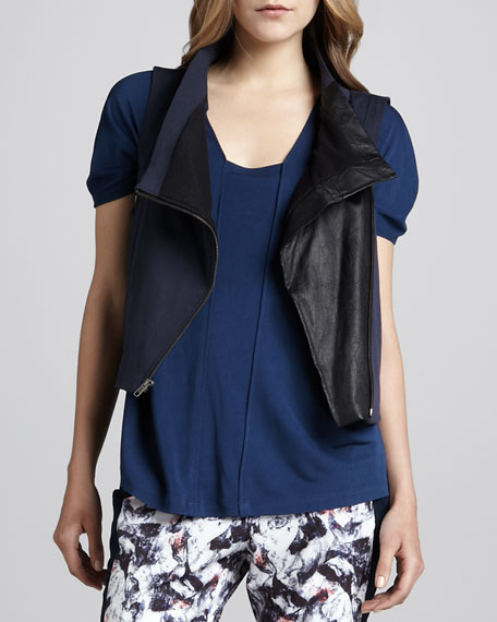 Motorcycle-Style Cotton Vest
