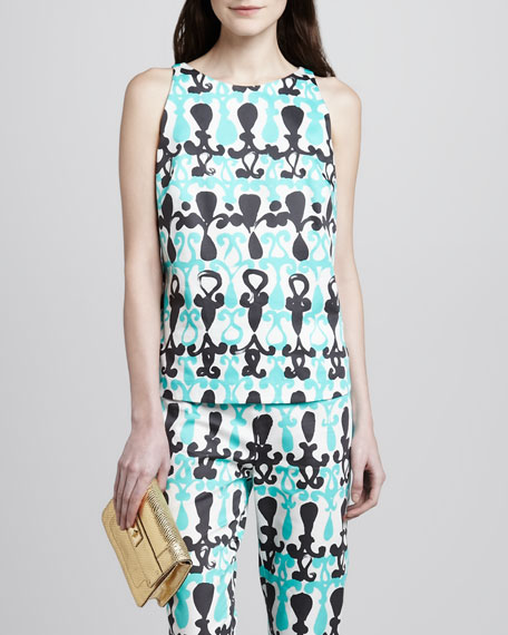 Nina Printed Sleeveless Top