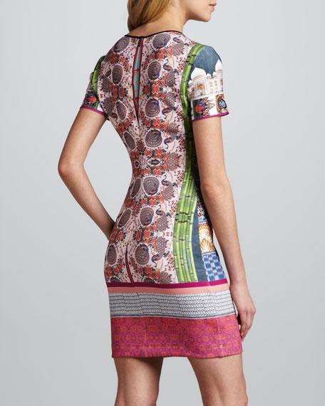 Taj Mahal Necklace-Print Dress