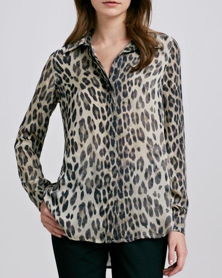 Leopard-Print Blouse