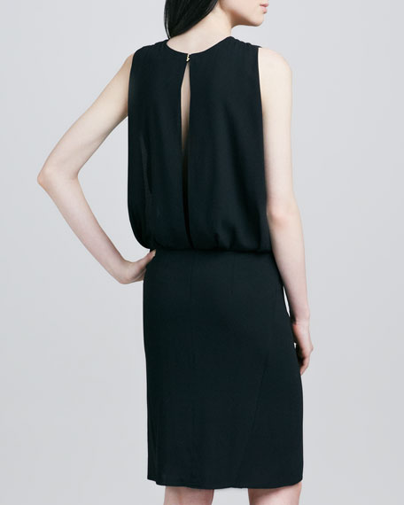 Draped Back Dress