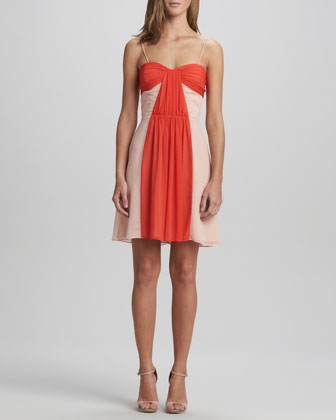 Delphine Two-Tone Chiffon Dress