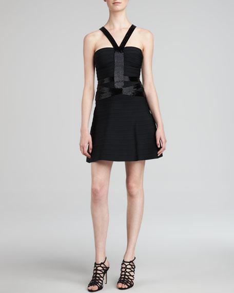 Sequined A-Line Bandage Dress