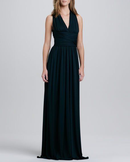 Cross-Back Jersey Gown