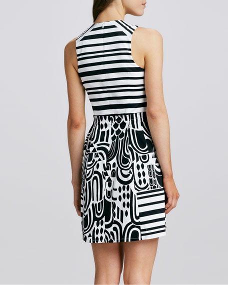 Striped Printed Dress