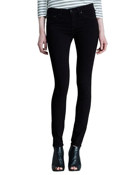 rag & bone/JEAN The Legging Jeans, Black Plush