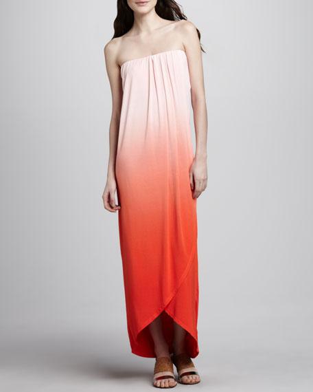 Brooklyn Ombre Strapless Maxi Dress