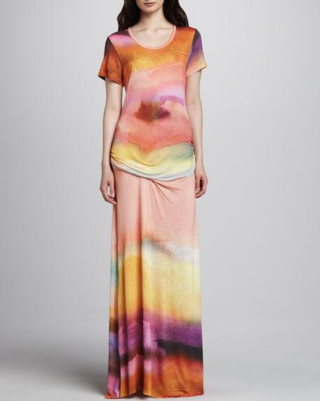 Montauk Short-Sleeve Maxi Dress
