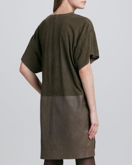 Mix-Texture Shift Dress